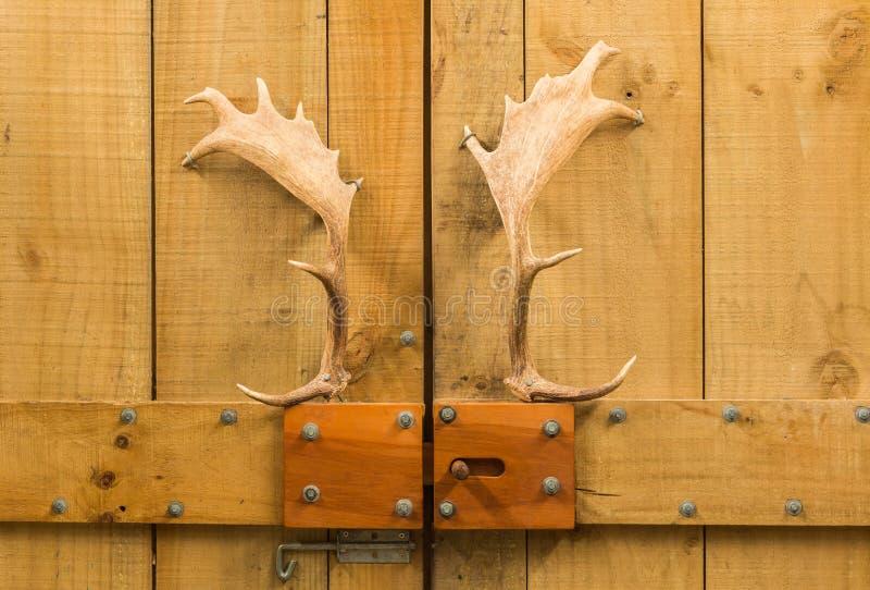Bon Download Antlers Door Handles Stock Photo. Image Of Barn, Pointed   55348804