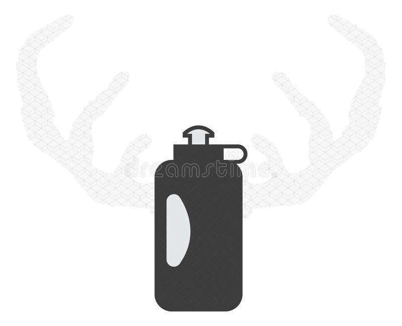 Antlers оленей бутылки иллюстрация вектора