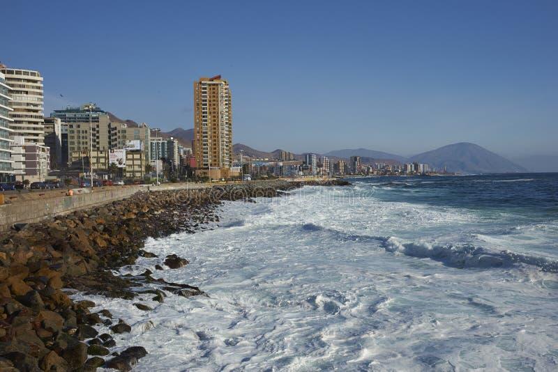 Antofagasta-Küste, Chile lizenzfreie stockfotos