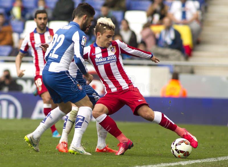 Antoine Griezmann van Atletico Madrid stock afbeelding