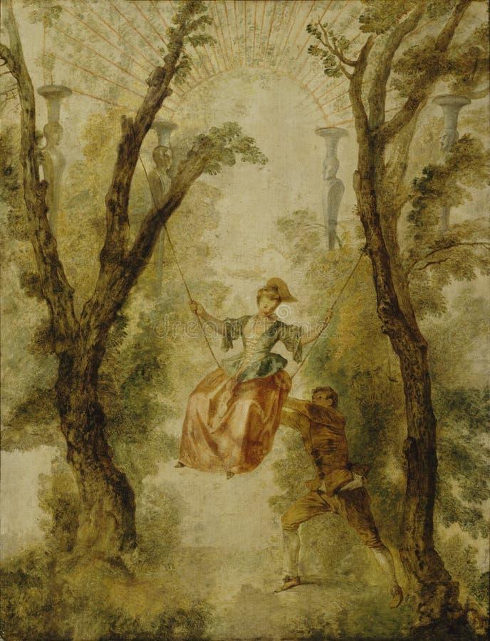Antoine Watteau (1684−1721): The Swing / Keinu / Gunga stock photography