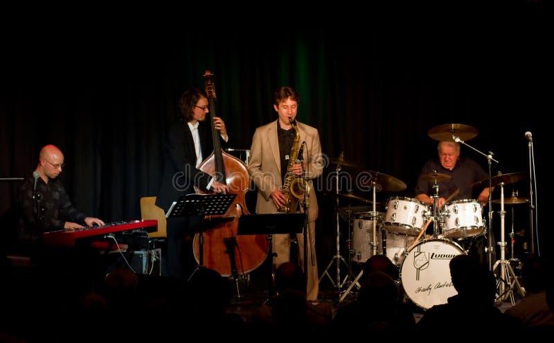 antolini барабанщик charly его швейцарец swin джаза стоковая фотография