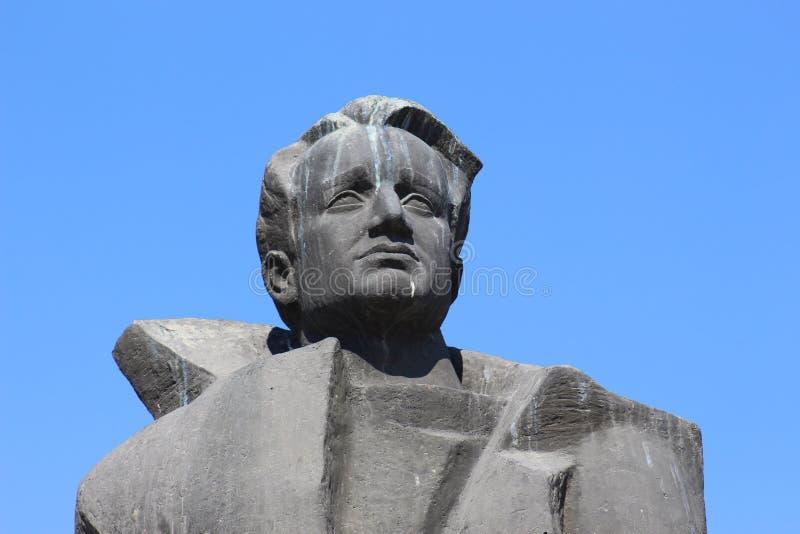 Anton Popov Petrich zabytku zakończenie twarz w twarz w centrum Petrich obrazy stock