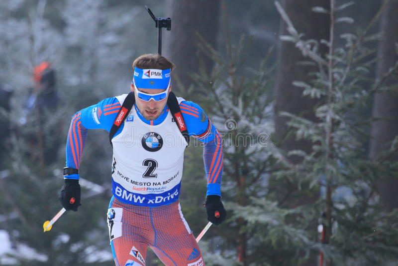 Anton Shipulin - biathlon arkivfoto