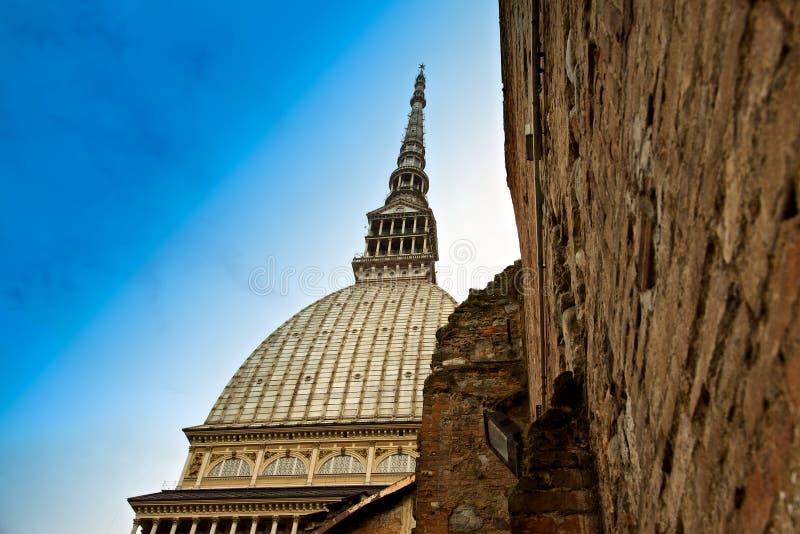 antonelliana Italy gramocząsteczka Piedmont Turin zdjęcia stock