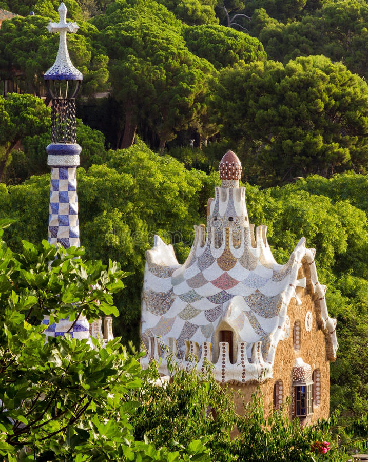 Antoni Gaudi in Barcelona, Spain. royalty free stock image