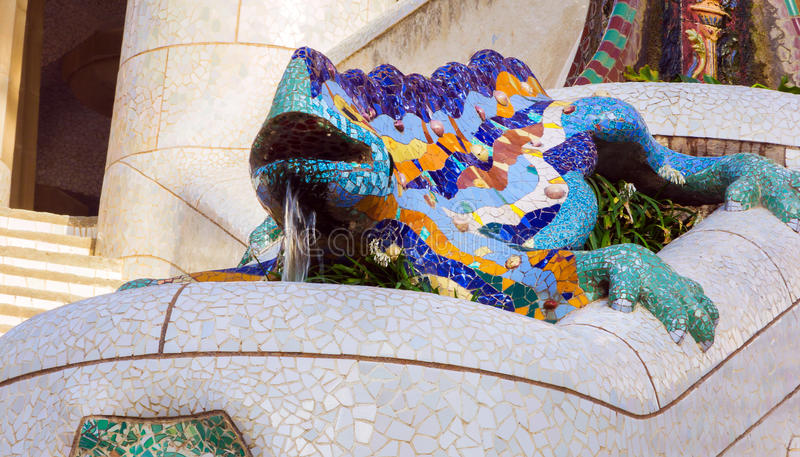 Antoni Gaudi in Barcelona, Spain. royalty free stock photography