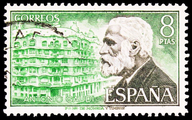 Antoni Gaudi, Famous People Series, intorno al 1975 immagini stock