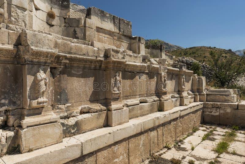 Antonine Nymphaeum em Sagalassos, Turquia imagens de stock royalty free