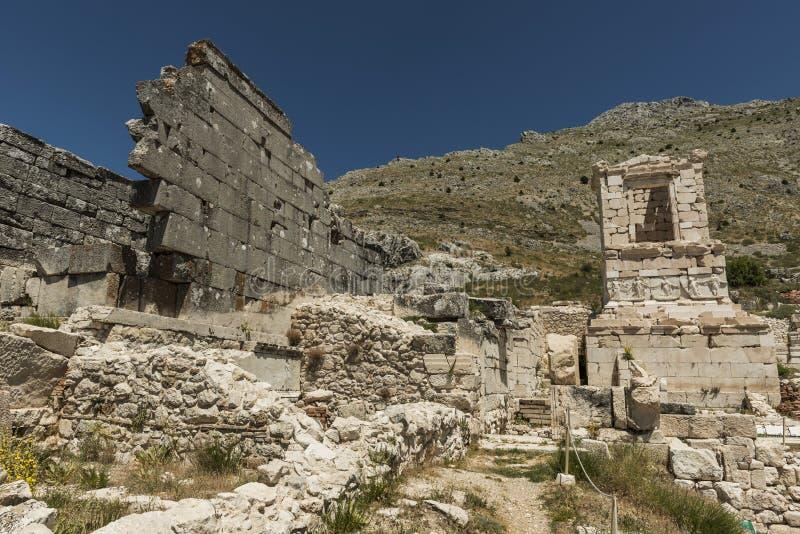 Antonine Nymphaeum en Sagalassos, Turquía imagenes de archivo