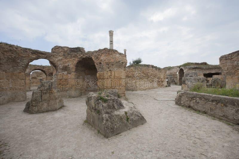 Antonine Thermae w Carthage, Tunis, Tunezja zdjęcie royalty free