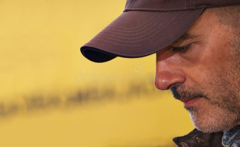 Antonio Banderas-Denken lizenzfreies stockbild