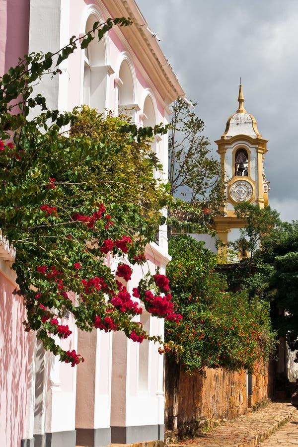 antonio Brazil Kościół De Matriz santo tiradentes obrazy stock