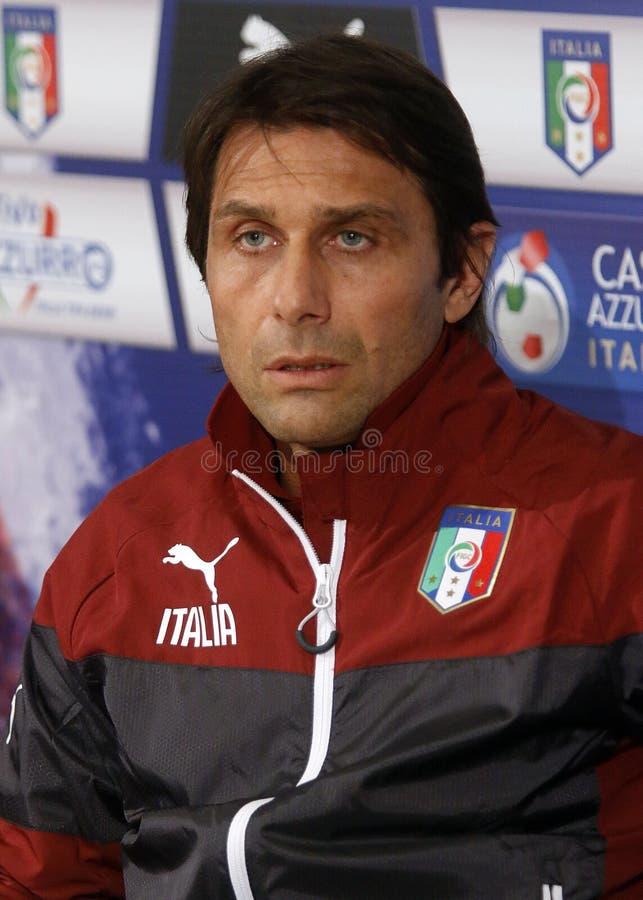 Antonio Conte Italien arkivfoto