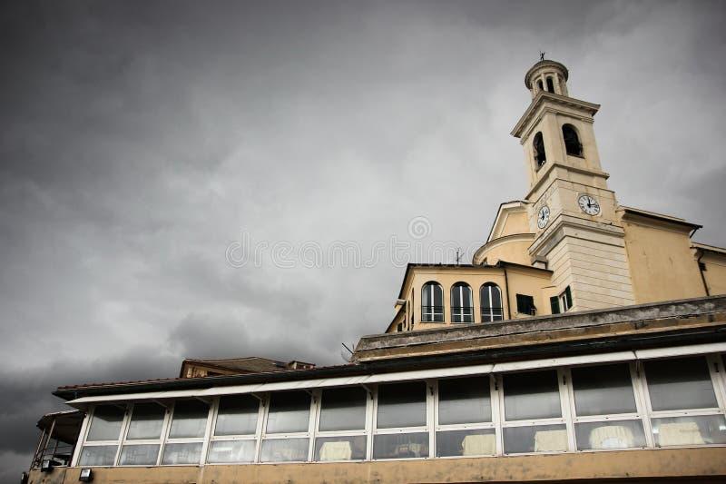 ` Antonio di Boccadasse di Sant della chiesa a Genova, Liguria, Italia fotografie stock