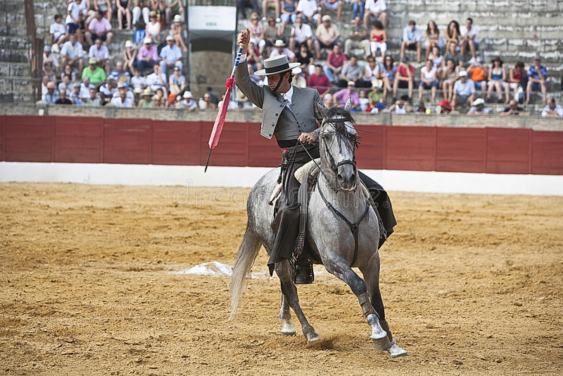 Antonio Domecq, bullfighter on horseback spanish. Baeza, Jaen province, Spain, 13 august 2010 stock photos