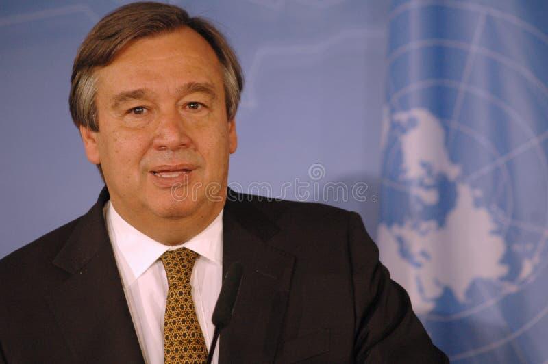Antonio Guterres imagen de archivo libre de regalías