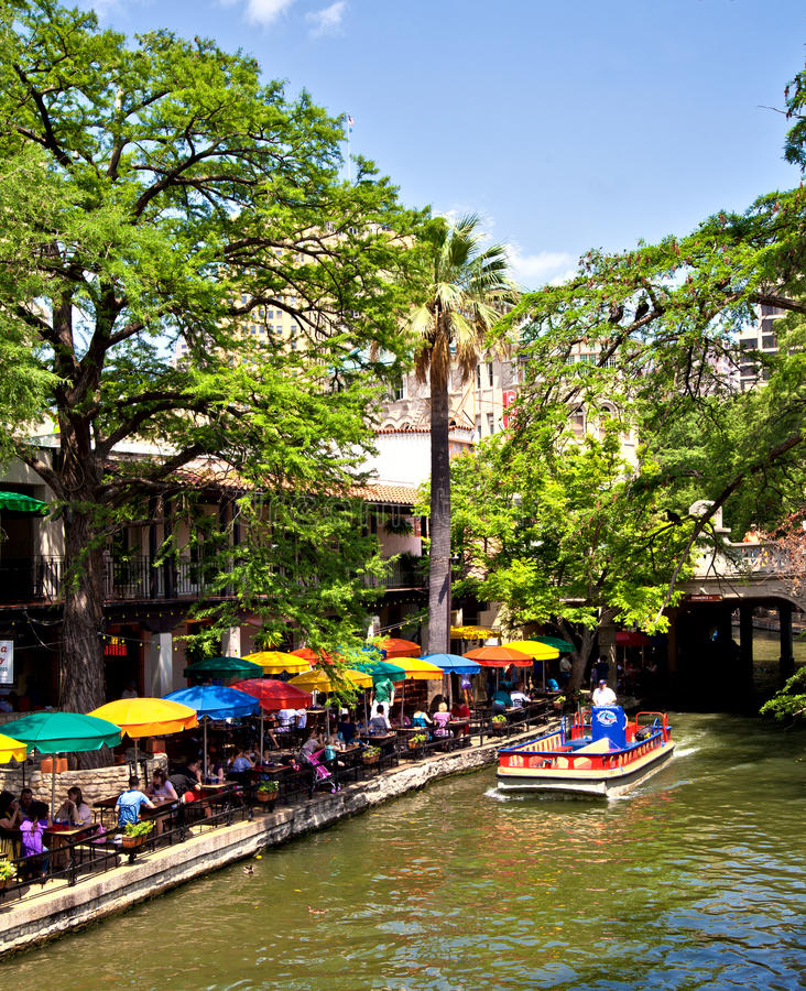 antonio riverwalk San obraz royalty free