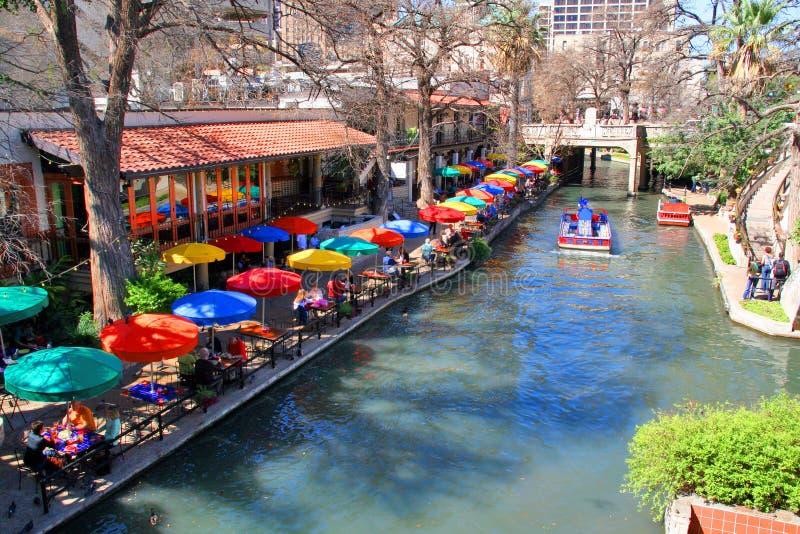 antonio riverwalk SAN στοκ εικόνα