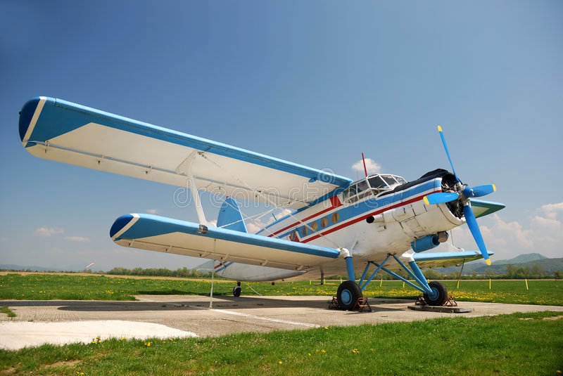 Antonov An-2. Historical airplane Antonov An-2 from Russia royalty free stock photography