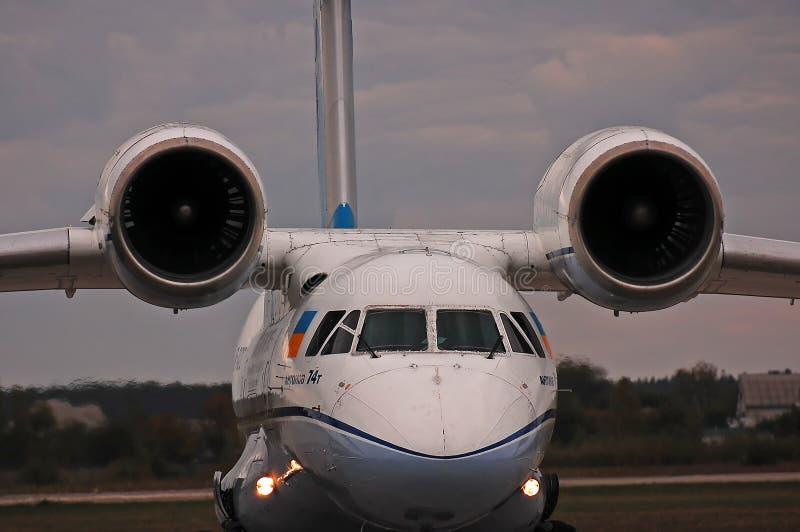 Antonov Design Bureau Antonov An-74T royalty free stock image