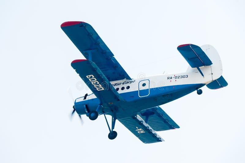 Antonov flyes 2 de un aeroplano foto de archivo libre de regalías