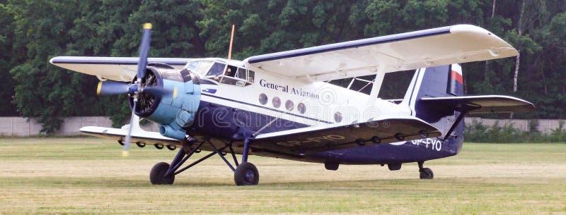 Antonov An-2 tłokowy samolot na Goraszka pokazie lotniczym w Polska obrazy royalty free