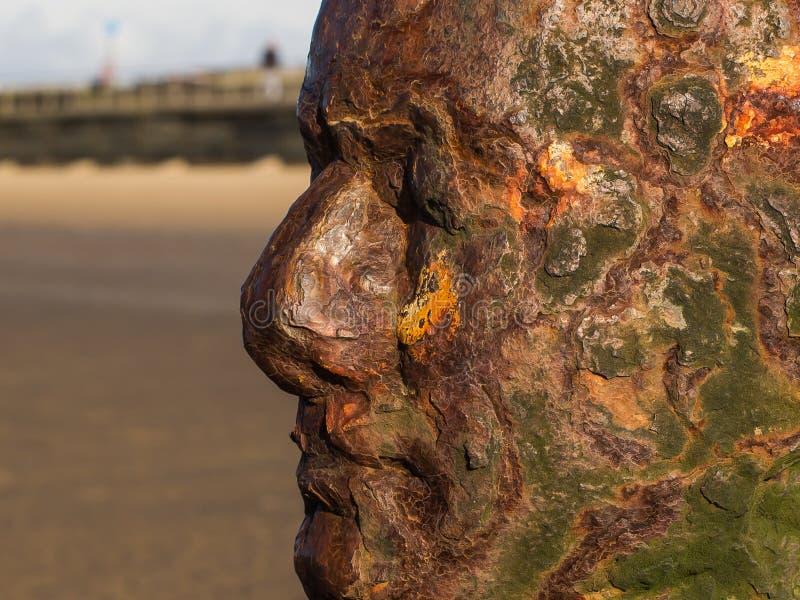 Antony Gormley-beeldhouwwerk stock afbeeldingen