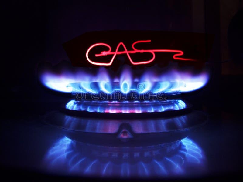 Antorcha del gas y el wire-2 heated foto de archivo libre de regalías