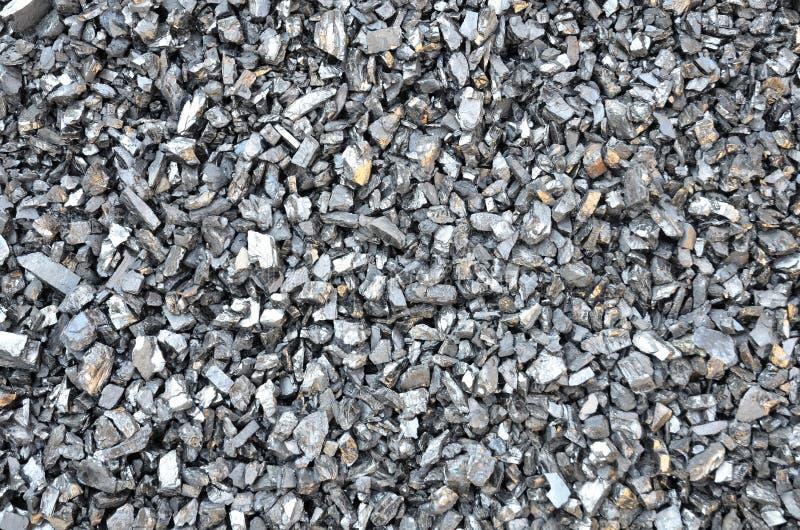 Antracite fina enriquecida de carvão da fração fina foto de stock