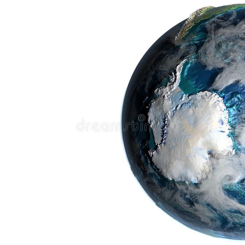 Antractic ter wereld in de ochtend stock illustratie