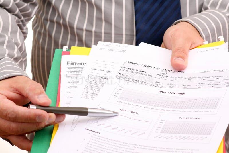 Antrag auf Hypothekendarlehen stockfotos