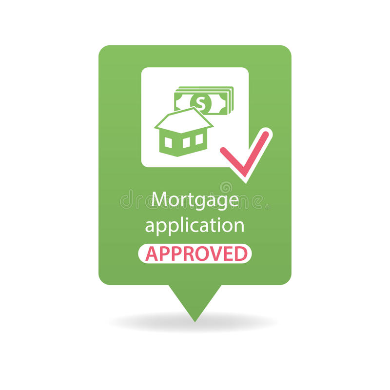 Antrag auf Hypothekendarlehen genehmigt jpg stockbild