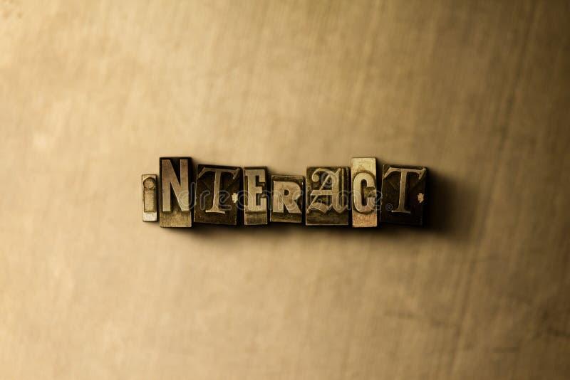 ANTRAKT - zakończenie grungy rocznik typeset słowo na metalu tle ilustracja wektor