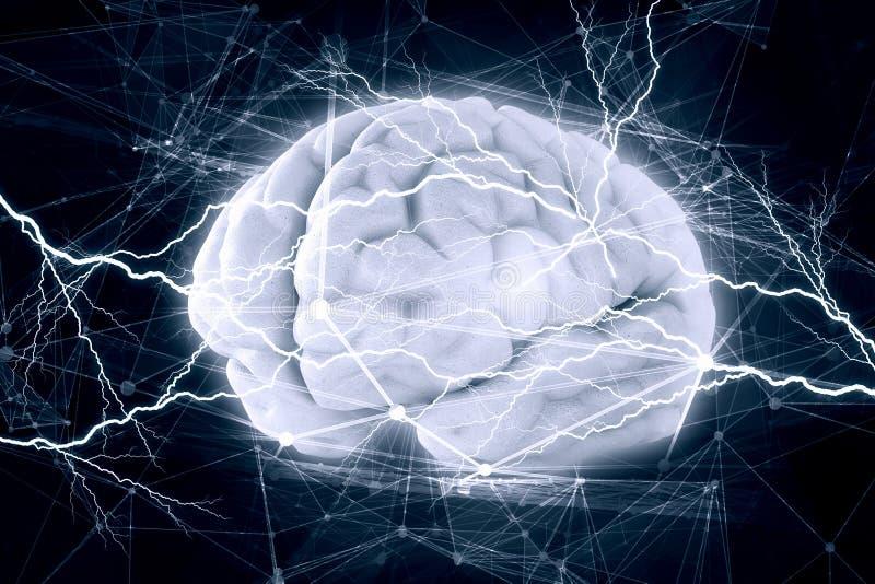 Antrieb des menschlichen Gehirns lizenzfreie stockbilder