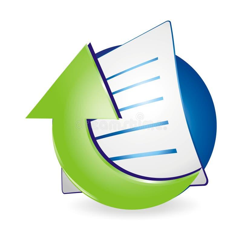 Antriebskraft-Dokumenten-Ikone