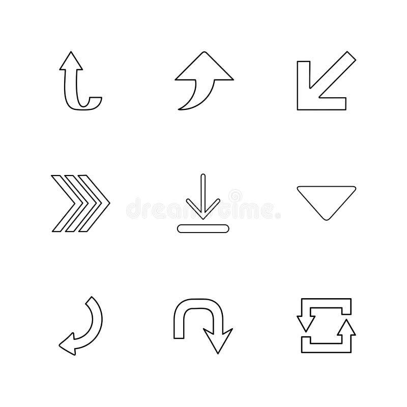 Antriebskraft, Download, Rückseite, Pfeile, Richtungen, link, Recht lizenzfreie abbildung