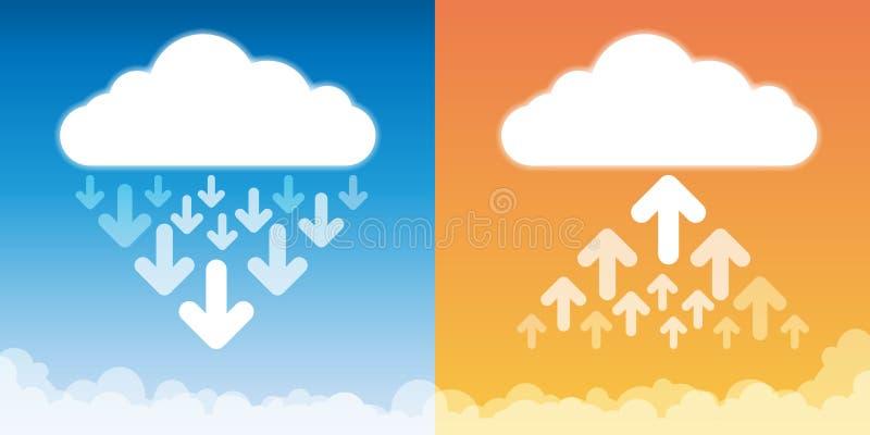 Antriebskraft-Download-Wolken-Speicher lizenzfreie abbildung