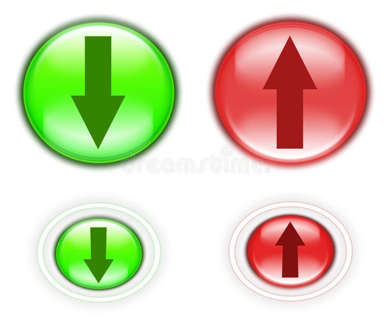 Antriebskraft- und Downloadtasten stock abbildung