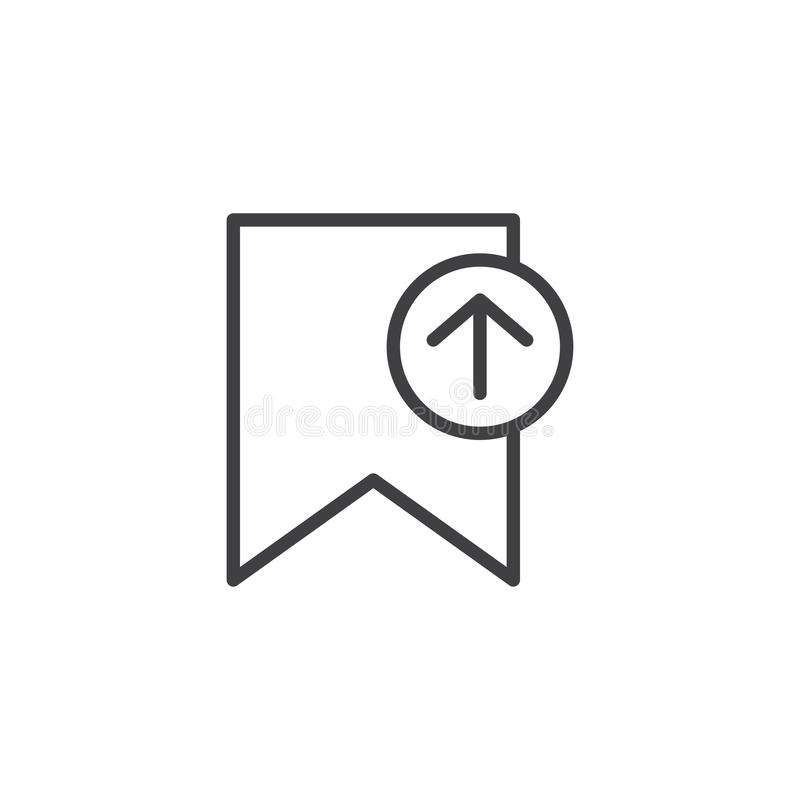 Antriebskraftbookmark-Entwurfsikone vektor abbildung