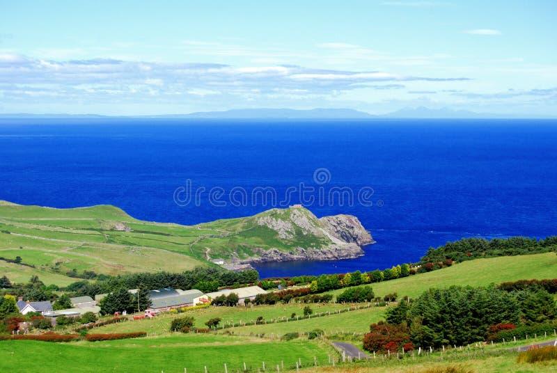 Antrim coast in northern Ireland stock images