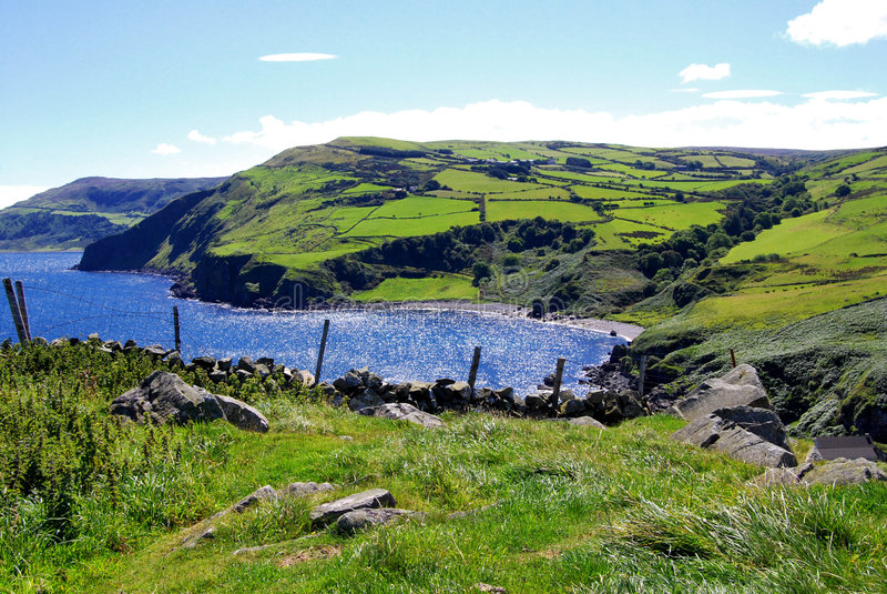 Antrim coast in northern Ireland stock photography