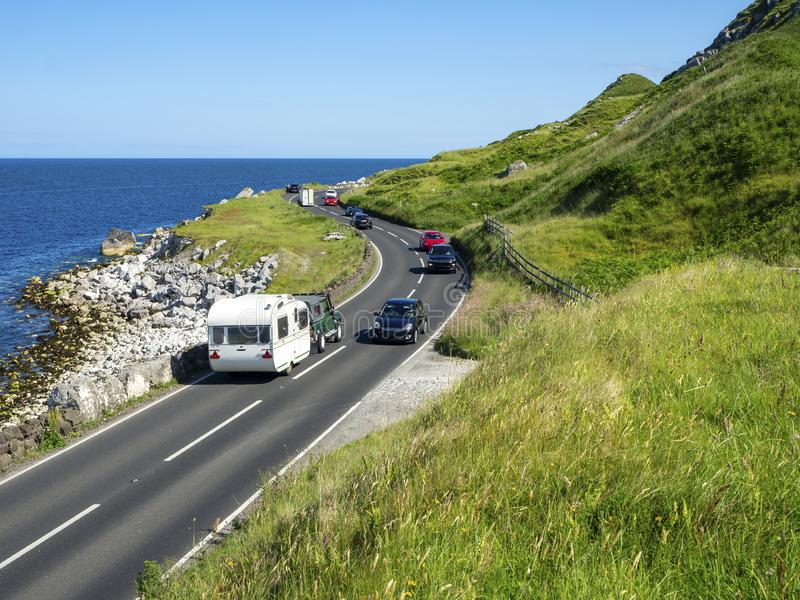 Antrim Coastal Road en Irlande du Nord, Royaume-Uni photo libre de droits