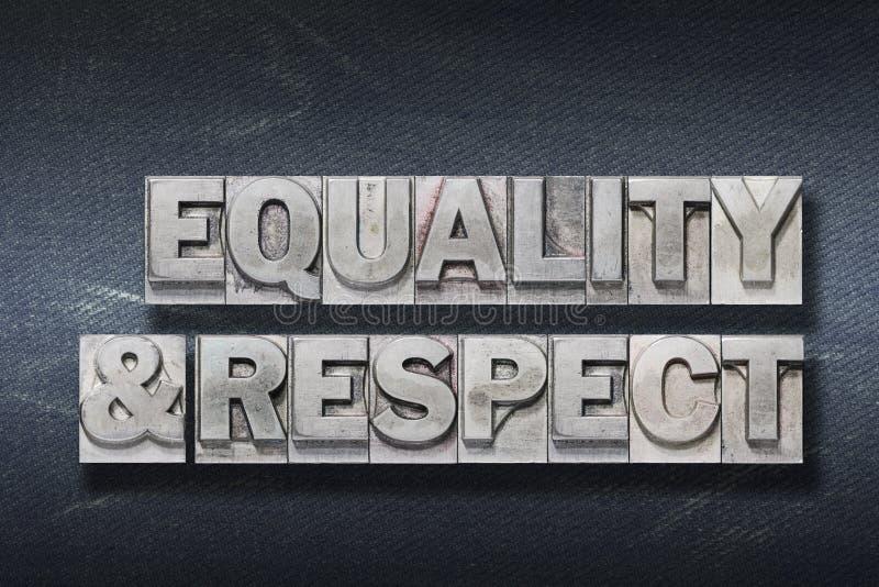 Antro da igualdade e do respeito imagem de stock