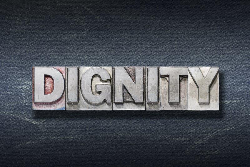 Antro da palavra da dignidade imagem de stock