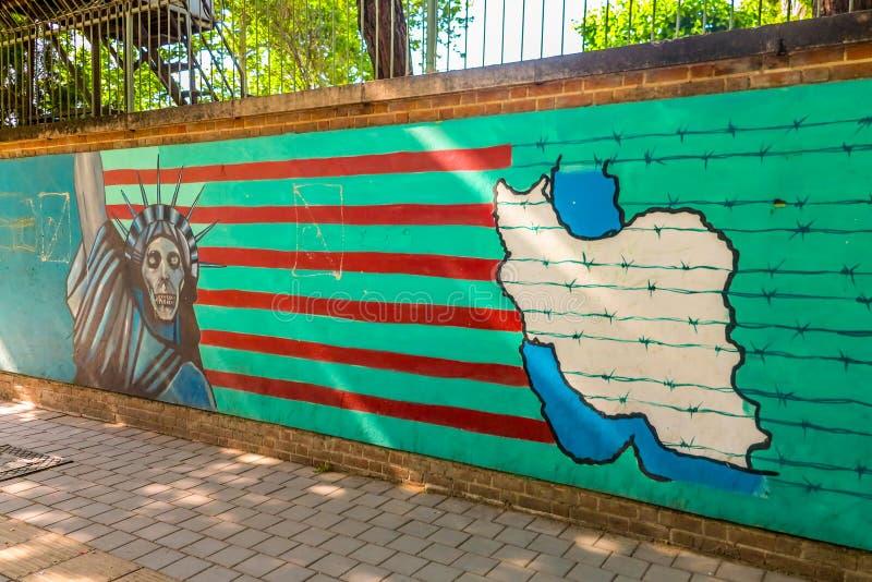 Antro de Tehran E.U. da espionagem 03 fotografia de stock