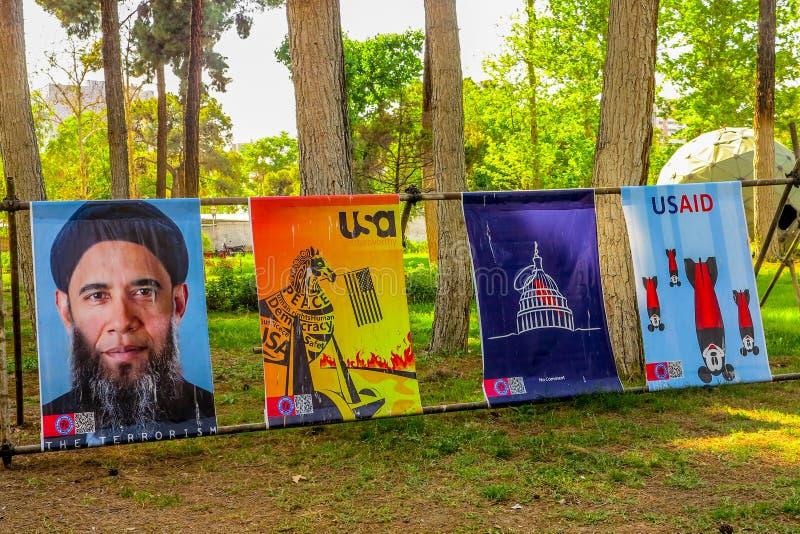 Antro de Tehran E.U. da espionagem 06 foto de stock royalty free