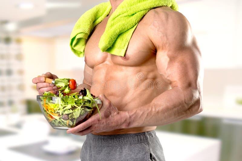 Antropófago saudável uma salada fotos de stock