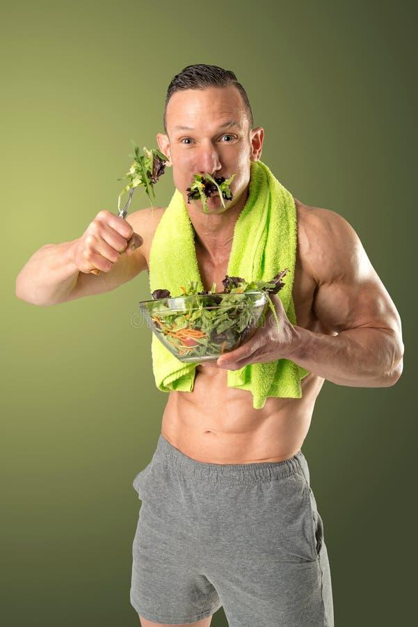 Antropófago saudável uma salada fotos de stock royalty free