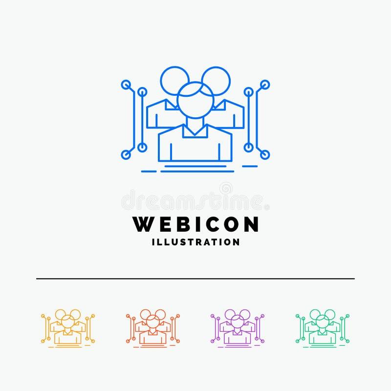 Antropometría, cuerpo, datos, línea de color humana, pública 5 plantilla del icono de la web aislada en blanco Ilustraci?n del ve libre illustration